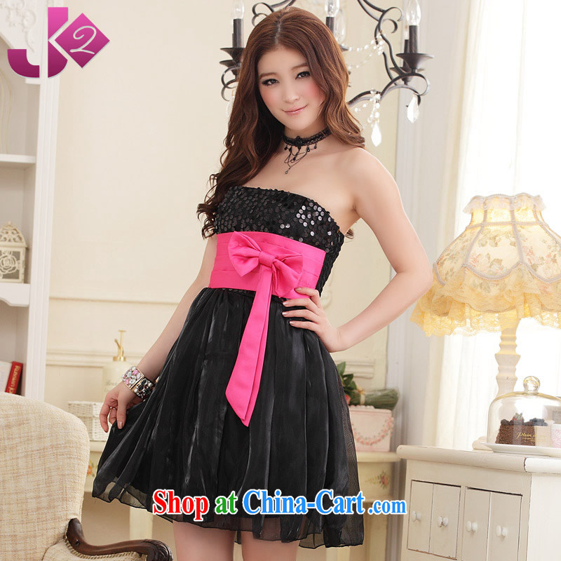 JK 2. YY delicate sweet, wrapped chest dress butterfly hand Madame Chair skirt dresses small annual increase, female black 2XL 140 recommendations about Jack
