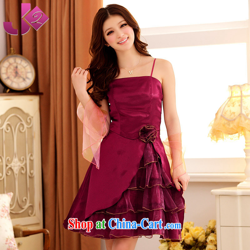 JK 2. YY summer stylish and elegant evening dress dress dress uniform toast Dinner Show gathering hosted XL GALLUS DRESS wine red (some people said that the mauve) 3 XL 175 recommendations about Jack