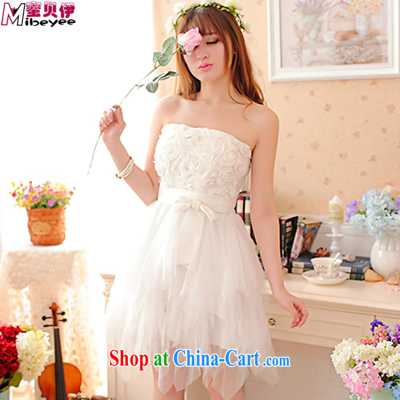 Addis Ababa honey, new, three-dimensional Princess Snow Flower woven bow tie bows clothing dress wiped his chest dress evening dress dress dress Princess sister replace white