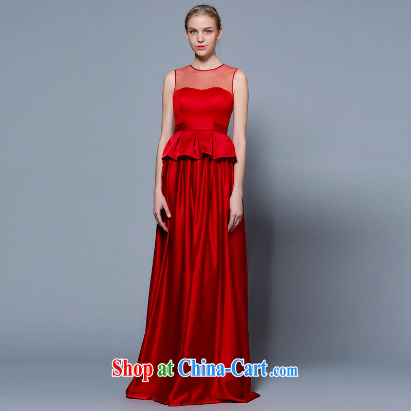 A yarn wedding dresses 2015 new, larger double-shoulder-length, the waist graphics thin bridal toast serving red 30240933 red XXL code 20 days pre-sale