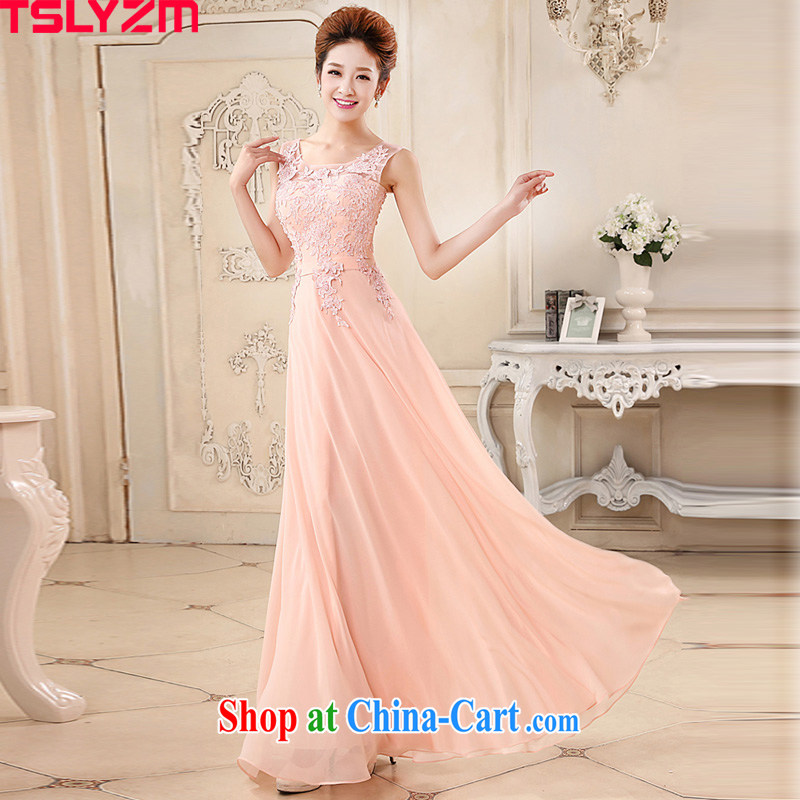 The angels, according to bridesmaid dresses, long 2015 new Pink dresses wedding dresses bridal wedding banquet evening show Service Bridal toast serving the wedding dress pink XL
