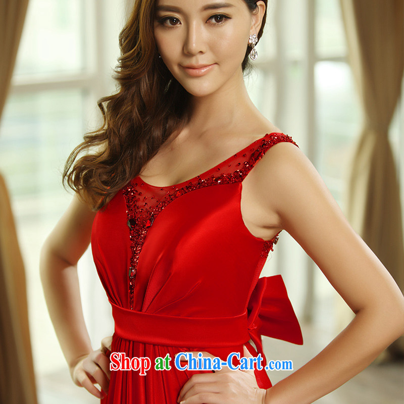 Garden 2015 Venice new dual-shoulder strap with Openwork decoration bridal dresses serving toast dress L 20,391 red tailored
