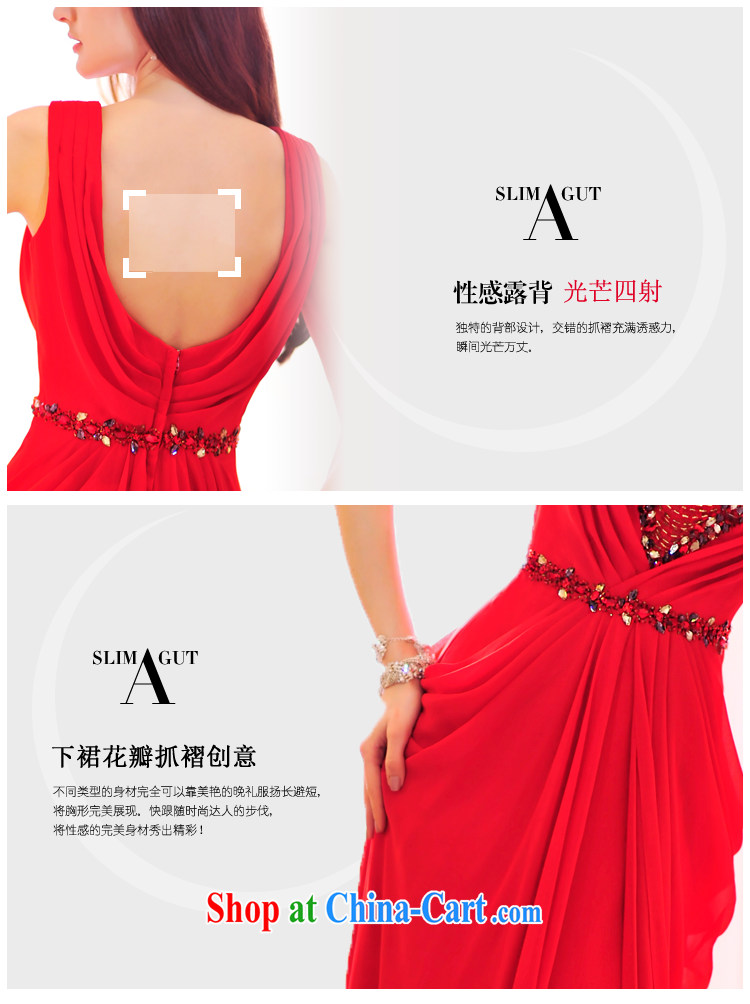 Garden spring 2015 new bridal wedding dresses V brought back exposed snow woven evening banquet toast L serving 21,465 red 15 CM tail tailored pictures, price, brand platters! Elections are good character, the national distribution, so why buy now enjoy more preferential! Health