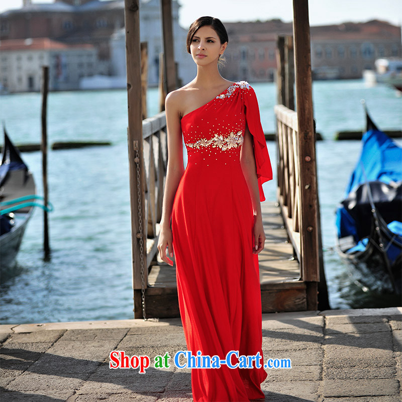 2015 new summer garden MTF Venice real-time Shoot Single shoulder the cuff around his waist, sweet with red dress uniform toast L 21,448 red tailored