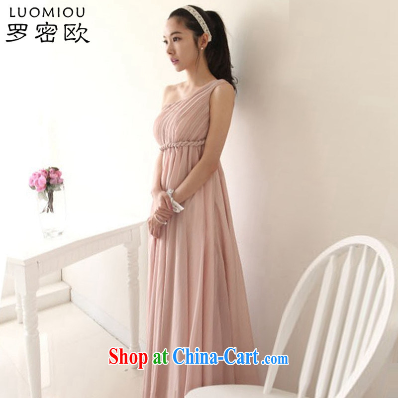 Romeo 2015 summer new cultivating the shoulder sleeveless bridal wedding toast clothing and stylish high-waist dress long dress 8831 champagne color 2 XL