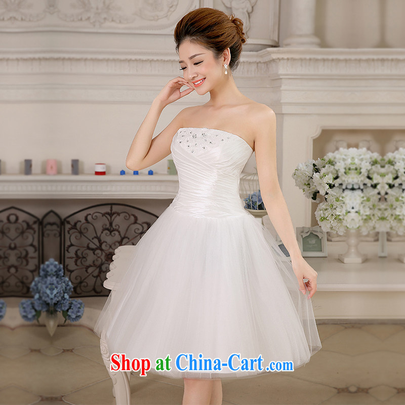 The United States and the 2015 spring and summer wedding dresses bridal toast serving short marriage, wedding beauty dress bridesmaid Stage service L S 0041