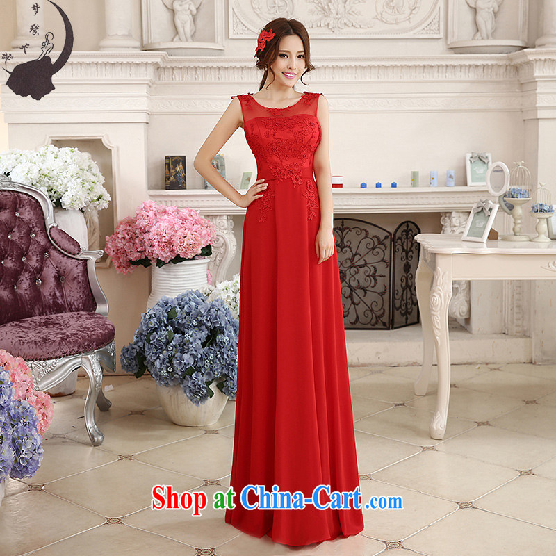 Dream of the day wedding dresses 2015 new marriages served toast long red evening dress 7599 red tailored