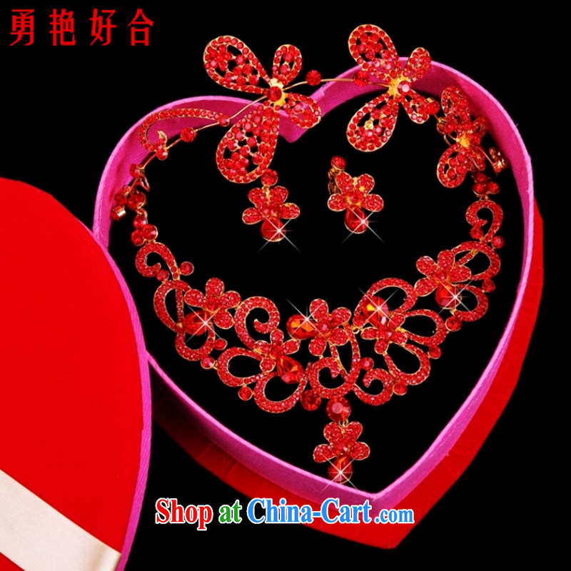 Yong-yan and 2015 new jewelry Kit Crown necklace earrings red