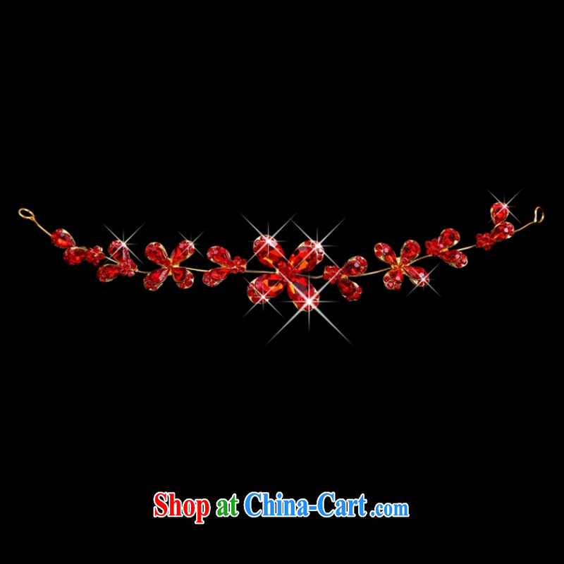 Yong-yan and new red wood drill set Crown necklace earrings gift boxed red, and make bold stunning good offices, shopping on the Internet