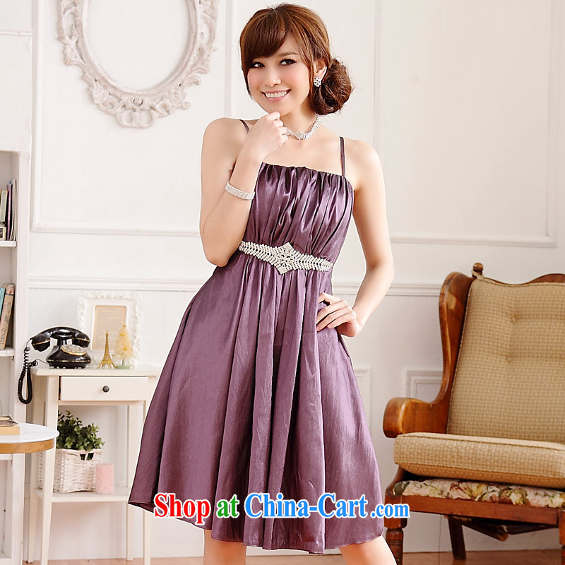 JK 2. YY Western-style Grand Palace of Yuan straps dress dinner will sister dresses purple are code