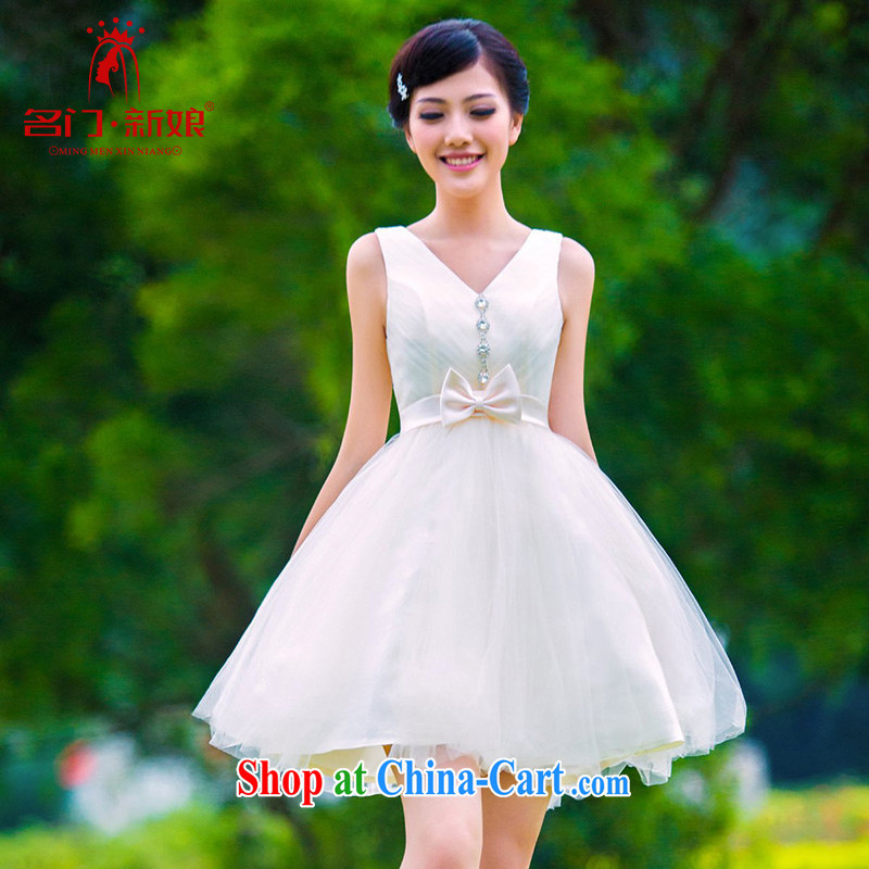 The bride's 2015 new bridesmaid wedding dresses small dress Princess dress uniform toast 335 L