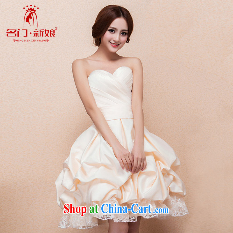 The bride's 2015 new small dress bridesmaid dress Princess shaggy dress uniform toast 122 L