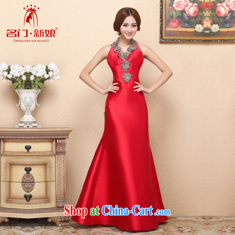 The bride 2015 New Red bows dress is also dress crowsfoot graphics thin retro 664 L