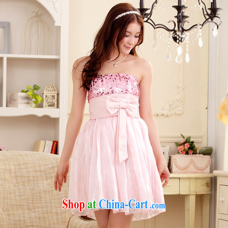 JK 2. YY New End Chest dinner Chairman, pregnant women dress code the dress (the invisible) pink XXL