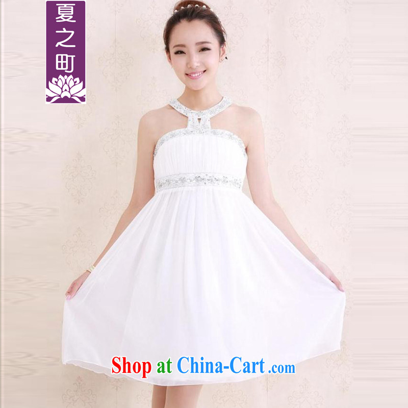 Mr Ronald ARCULLI's Foreign Minister Nobutaka Machimura 2014 summer new heavy industry wood drill, who is also high waist small dress dresses L 1014 white L