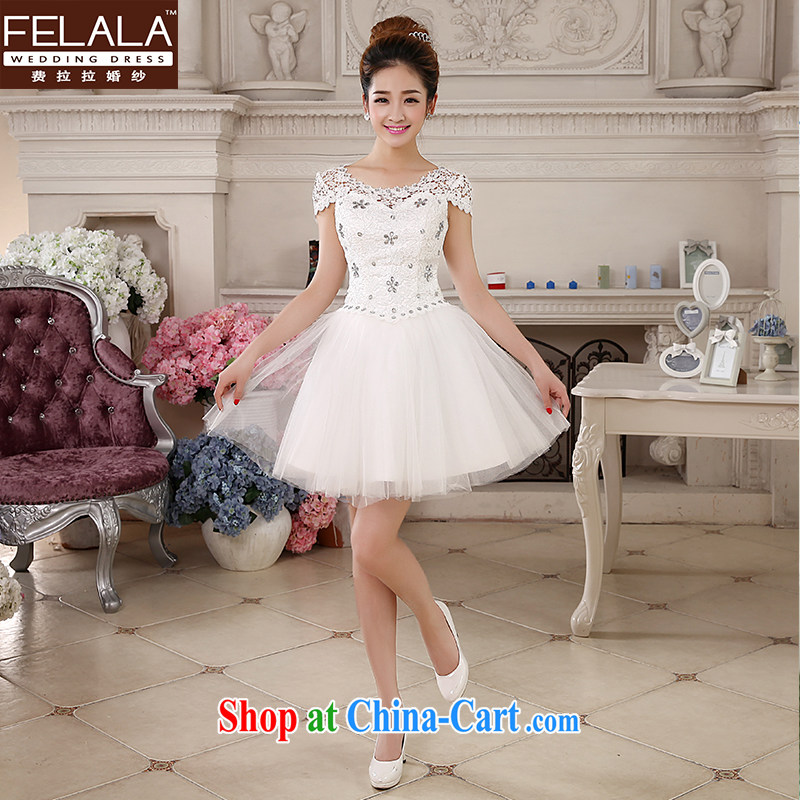 Ferrara �� Korean sweet dress dress wedding canopy skirts White Field shoulder bridesmaid wedding dresses short summer S Suzhou shipping