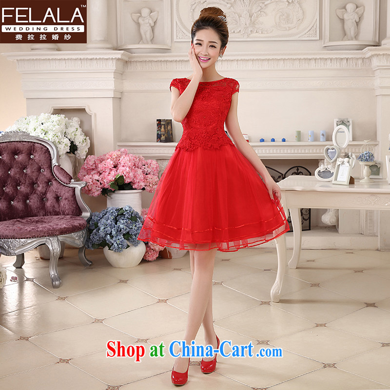 Ferrara �� 2015 new wedding dresses red Chinese qipao dress short marriages served toast summer red M Suzhou shipping