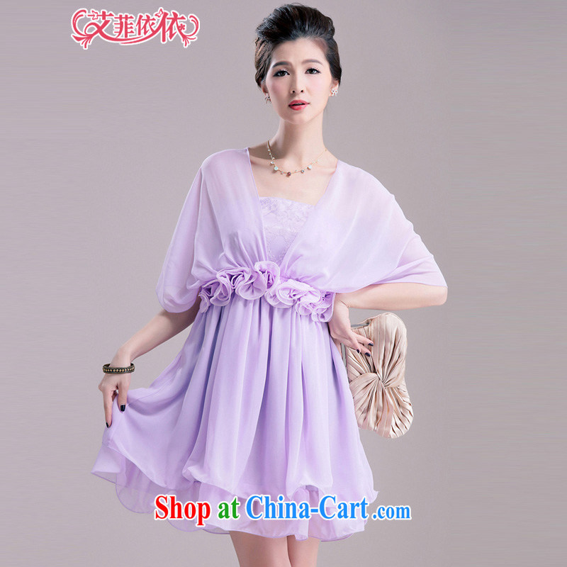 The small town small Hong Kong wind through more than the lady small dress skirt 2015 Korean short wedding banquet presided over bridesmaid sister with evening dress 5309 purple XL code