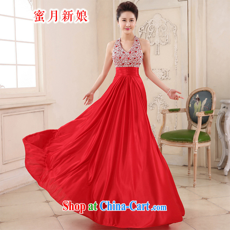 Honeymoon bridal 2015 spring and summer new bows dress long stylish snow-woven dresses also will show the service red XL