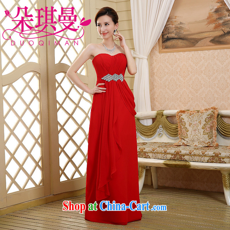 Flower Angel Cayman 2014 new marriages marriage chest bare wood drill bows gown XXL