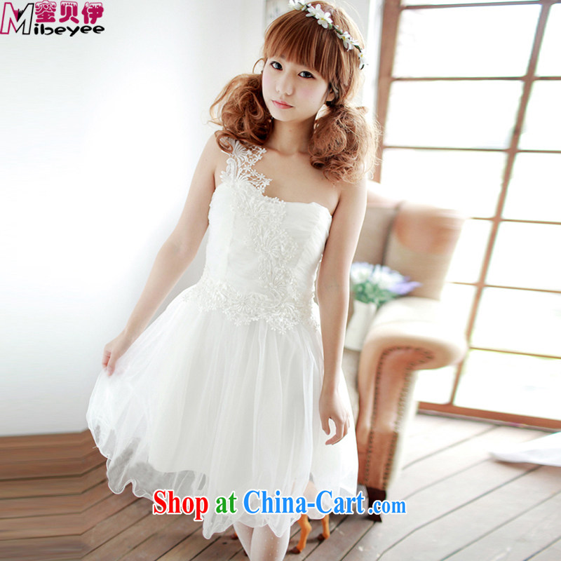 Honey, Addis Ababa, the only US-style sense of biological Empty check take a yarn the Pearl lace the shoulder the shoulder dress dress Evening Dress bridesmaid dress toast served with sister white, code