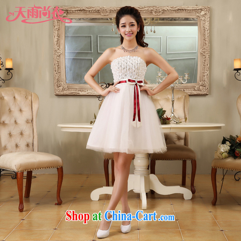 Rain is still Yi marriages 2015 new bridesmaid short skirt and sisters with sweet bride small dress LF 169 white tailored