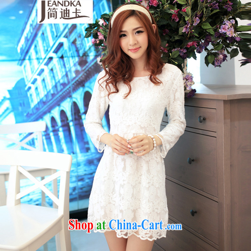 In short, the 2015 new languages empty beauty lace cuff in dress dresses SW 15,015 white S