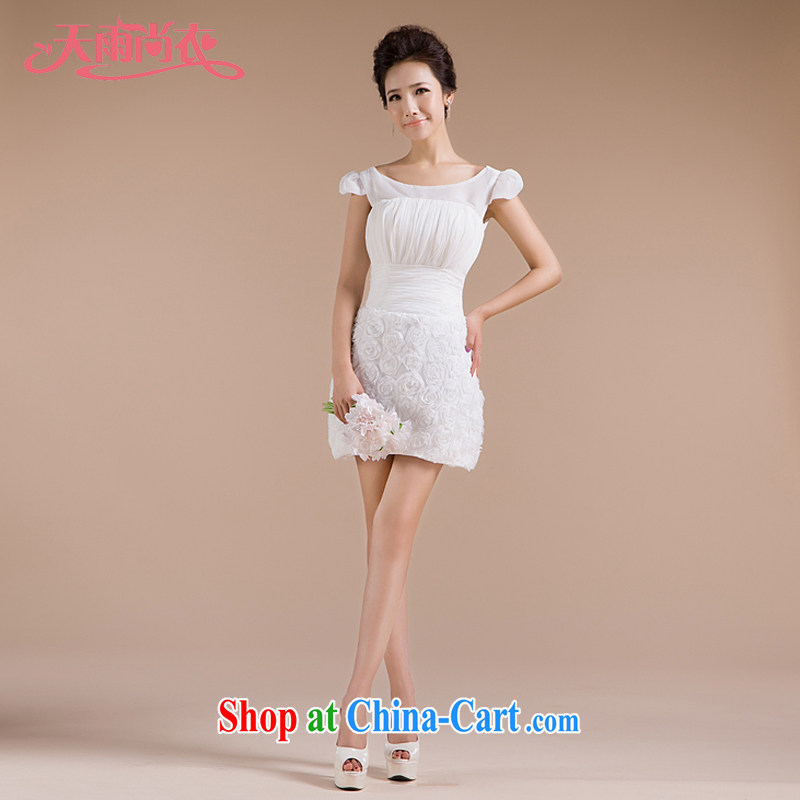 Rain is still Yi wedding 2015 bride toast serving new white short dress package and sexy bridesmaid dresses small LF 85 white tailored