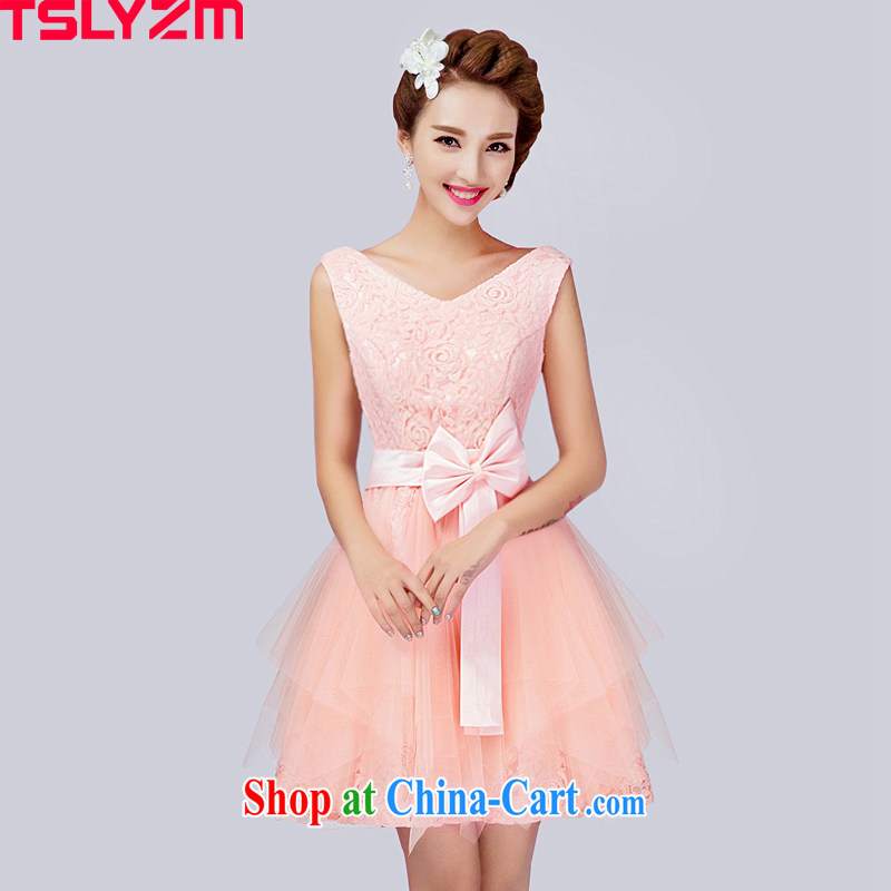 tslyzm bridal wedding bridesmaid's dress bridesmaid toast serving serving Korean version the code sister skirt short lace short dress uniforms moderator XL