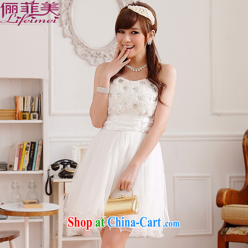An expensive beauty with Princess dress dresses the chest three-dimensional roses high waist beauty thick MM female shaggy dress sister bridesmaid bridal toast evening dress white XXXL