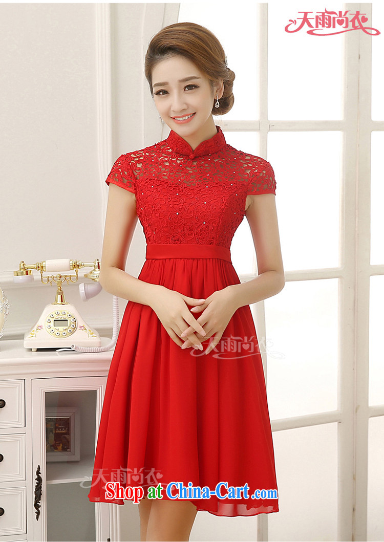 Rain was Yi marriages 2015 new wedding Korean-style, high-waist pregnant toast clothing lace snow woven short skirts short, small dress LF 202 red XL pictures, price, brand platters! Elections are good character, the national distribution, so why buy now enjoy more preferential! Health