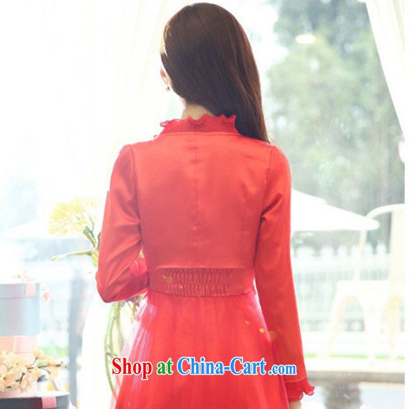 Windsor, 2014, new, name-won the Hong Kong wind long-sleeved cultivating good A Field dresses wedding dress two piece Girls fall 9905 load D Red XXL, Elizabeth, and, on-line shopping