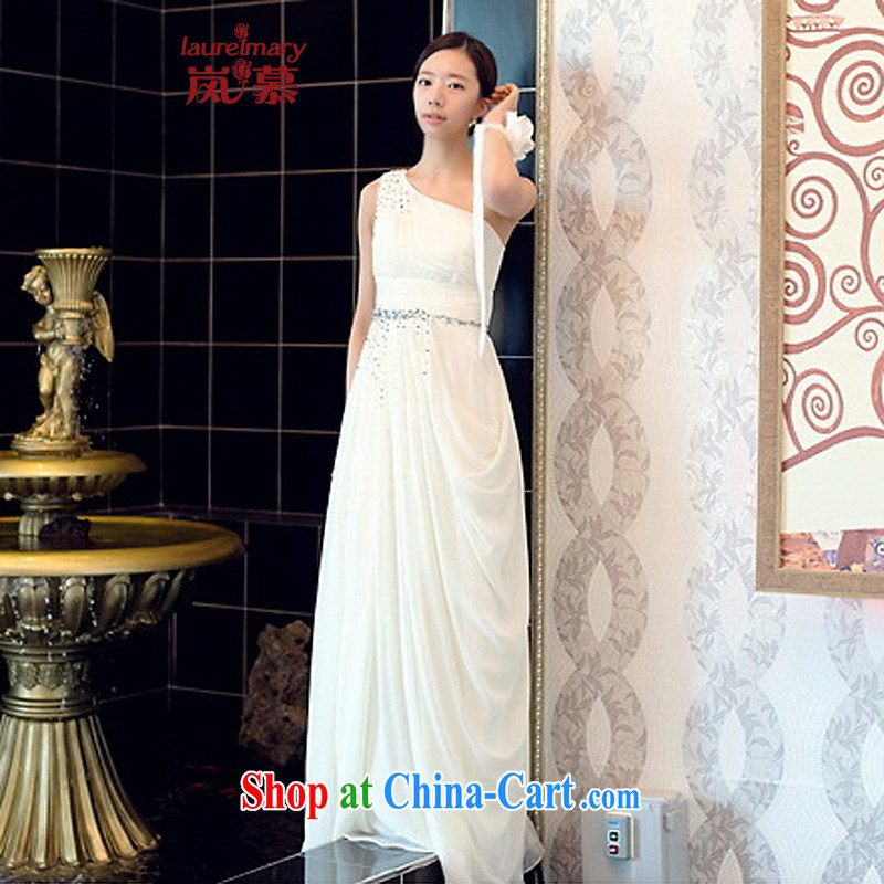 LAURELMARY sponsors the 2015 new Korean lovely single shoulder snow woven manually seamless beads small A is cultivating style with bridal gown red XL (chest 95 waist 79.