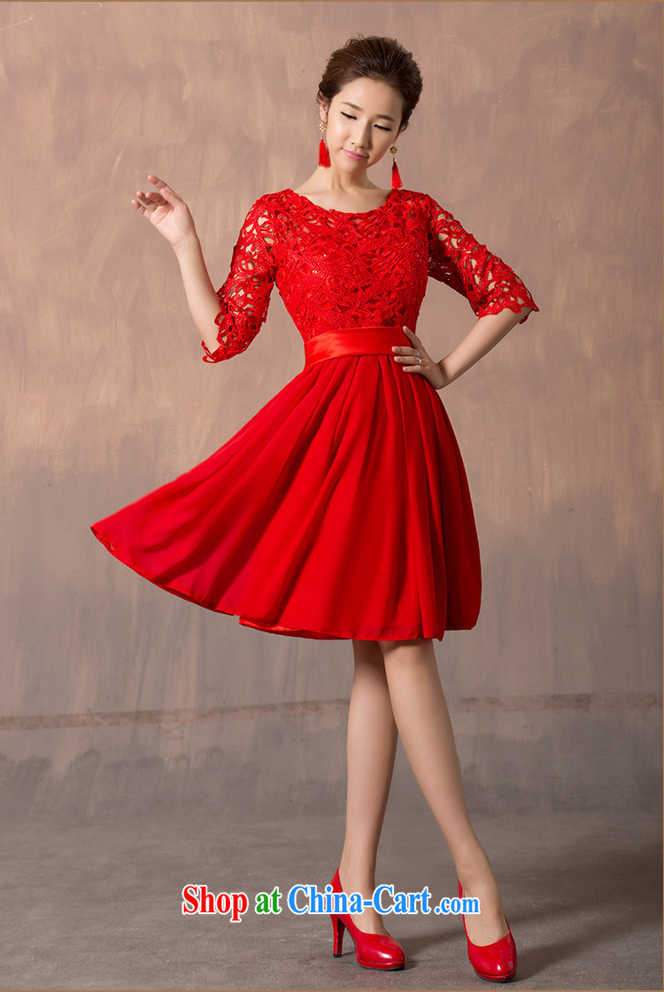 Jessica covers bridal wedding dresses 2014 new toast one field shoulder lace cuff in red short evening dress upscale beauty graphics thin 5101 red short XXXL pictures, price, brand platters! Elections are good character, the national distribution, so why buy now enjoy more preferential! Health