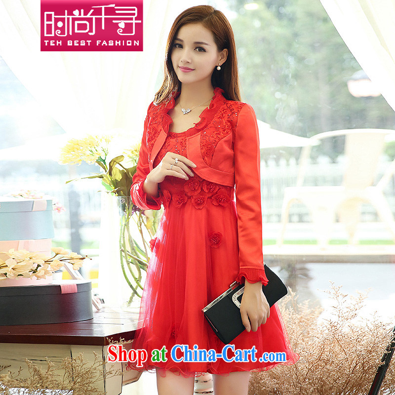 Stylish 1000 2015 addressing new women who decorated style red bridal ceremony clothing dresses package S 609,905 red XXXL