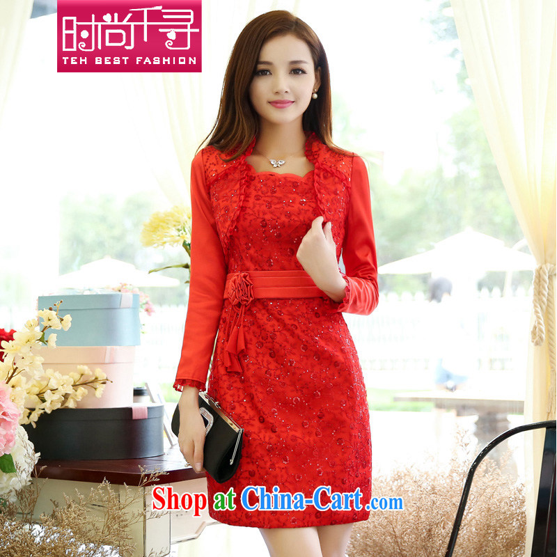 Stylish 1000 2015 addressing new large red the marriage toast small dress bridal back to door XL thick MM dresses S 609,959 red XXXL