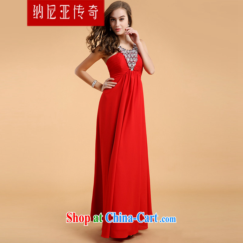The Chronicles of Narnia 2015 new stylish high-waist graphics thin V for wood drilling is also red toast annual service dress Red N 14 - 81,303 L