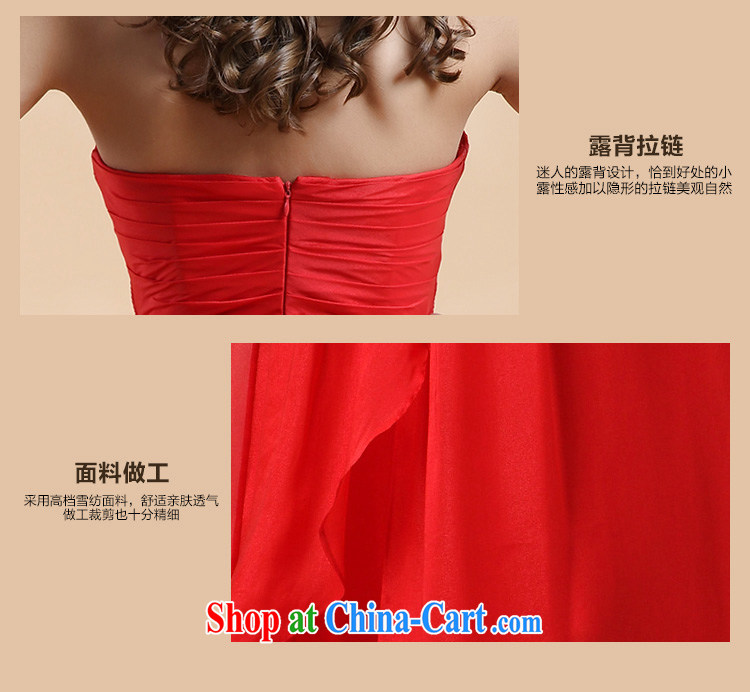 The Chronicles of Narnia bare chest toast serving women 2015 New Red stylish erase chest bridesmaid serving long banquet dress Red N 14 - 3504 L pictures, price, brand platters! Elections are good character, the national distribution, so why buy now enjoy more preferential! Health