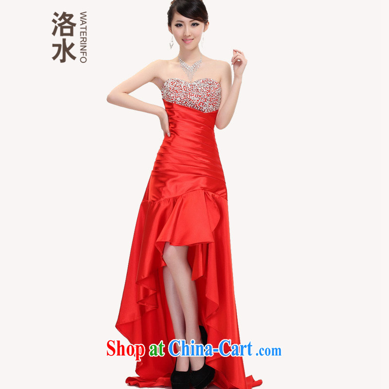 The 2014 new autumn bride toast wedding dress back doors of Mary Magdalene sense chest graphics thin light front short, long, banquet show the dress red XXL