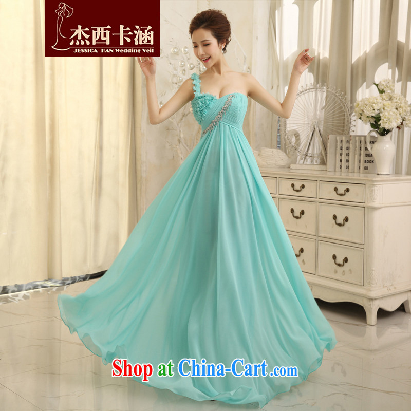 Jessica covers wedding dresses 2014 New red night ceremony Korean marriages served toast flowers 5069 blue L