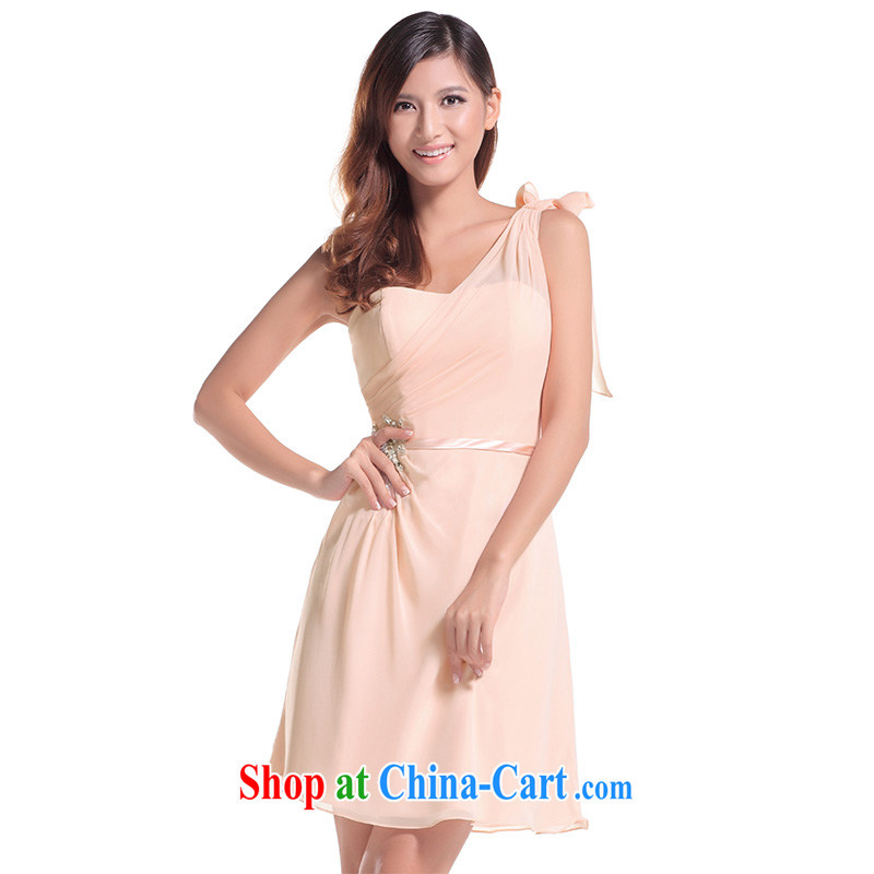 2015 new bridesmaid dress short, bride's sister's wedding dress skirt bridesmaid serving small dress female multi-color optional L 653 173 - M