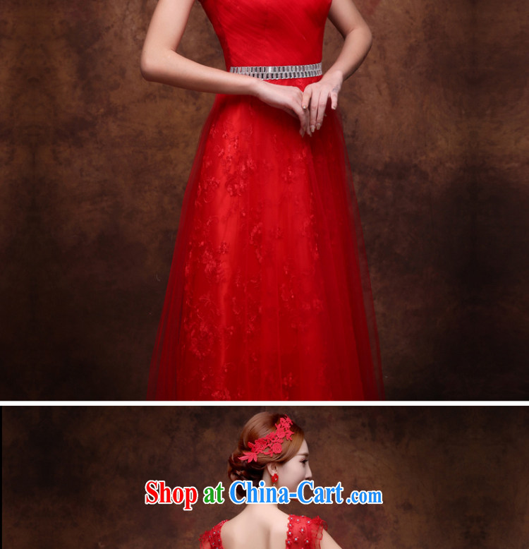 Wei Qi 2015 new wedding dresses bridal wedding toast serving red long dual-shoulder bows Service Annual banquet dress dresses straps dress crowsfoot red XL pictures, price, brand platters! Elections are good character, the national distribution, so why buy now enjoy more preferential! Health
