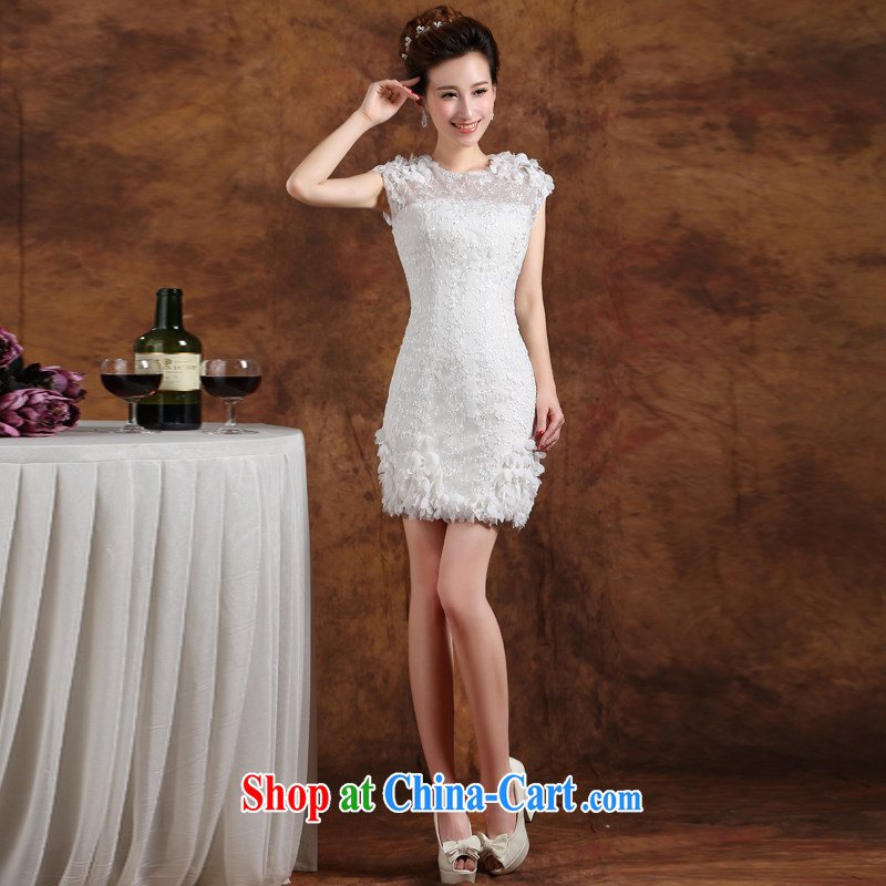 Qi wei summer 2015 new bridesmaid dresses the bride toast wedding service banquet hosted lace beauty dress white bridesmaid Service graduated from white custom plus $30