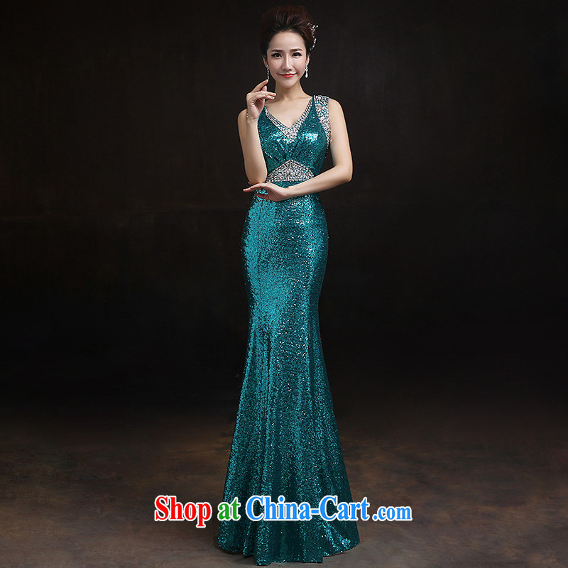 According to Lin Sha shoulders crowsfoot, lace Evening Dress bridal toast serving long crowsfoot cultivating appearances serving XL