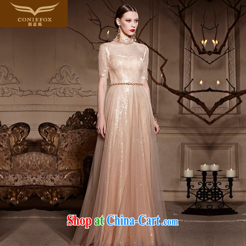 Creative Fox Evening Dress 2015 new banquet dress wedding toast service hospitality service long cultivating fall dress presided over 30,593 dresses picture color XXL