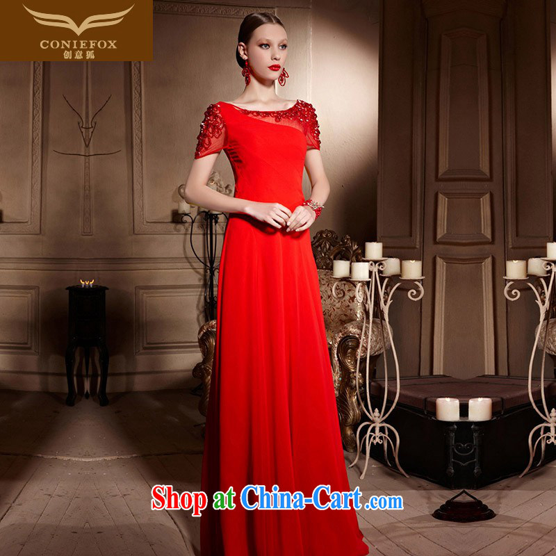 Creative Fox Evening Dress 2015 spring and summer new bridal wedding dresses wedding toast service banquet long cultivating fall dress skirt 30,599 red XXL