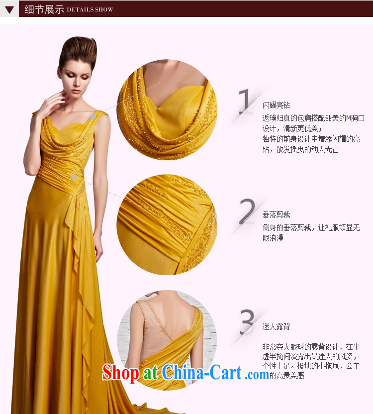 Creative Fox Evening Dress elegant and noble yellow shoulders banquet dress upscale luxury light drill dress graphics thin tail longer dress 81,383 pictures color XXL pictures, price, brand platters! Elections are good character, the national distribution, so why buy now enjoy more preferential! Health