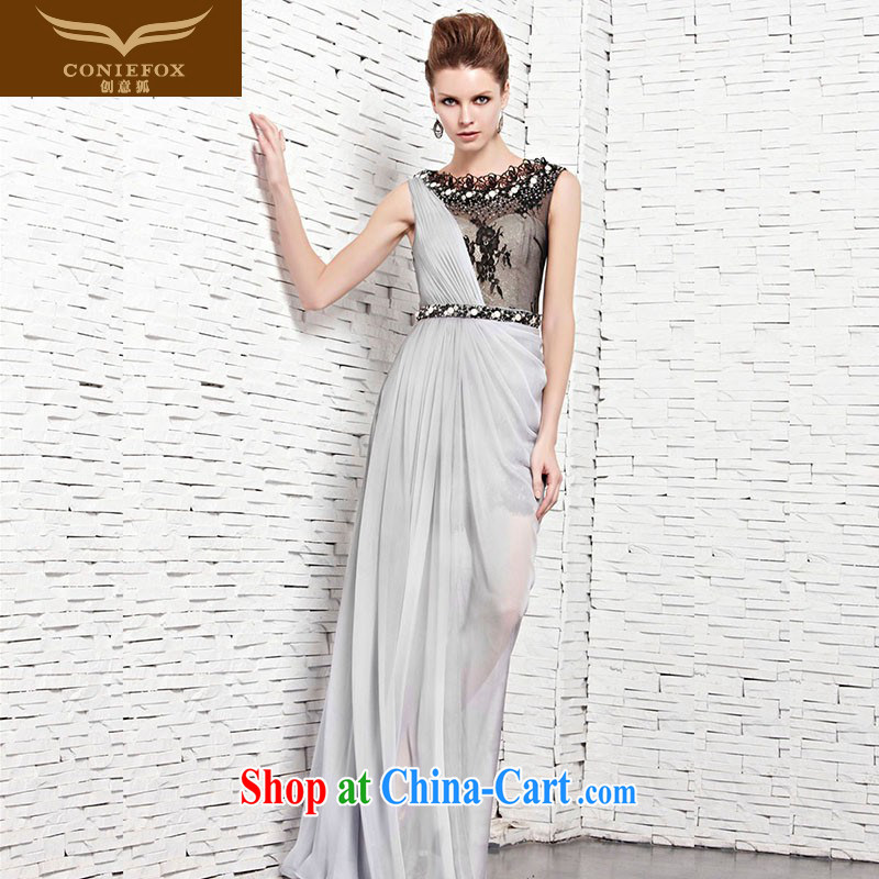 Creative Fox Evening Dress sexy banquet long gown dress elegant lace inserts drill dress wedding dresses banquet annual toast dress serving 81,535 picture color XXL