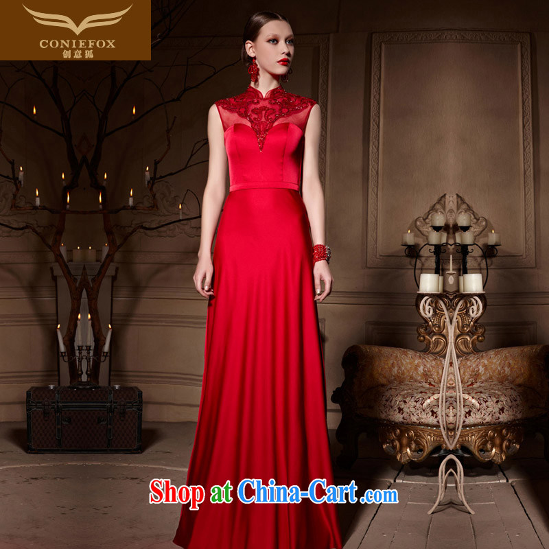 Creative Fox dress red bridal gown dress 2015 toast wedding dress long, accompanied by her sisters wedding dresses courtesy service 30,650 picture color XXL