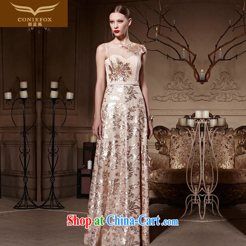 Creative Fox dress fashion, bridal dresses wedding toast serving elegant long fall dress bridesmaid dress the dress long skirt 81,968 picture color XXL